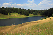 Stańczyki, 2008-7-11. Rynnowe, polodowcowe jezioro położonye w województwie warmińsko-mazurskim, nieopodal Puszczy Rominckiej i mostów w Stańczykach.