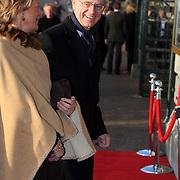 NLD/Amsterdam/20080201 - Verjaardagsfeest Koninging Beatrix en prinses Margriet, Onno Ruding en partner Renee