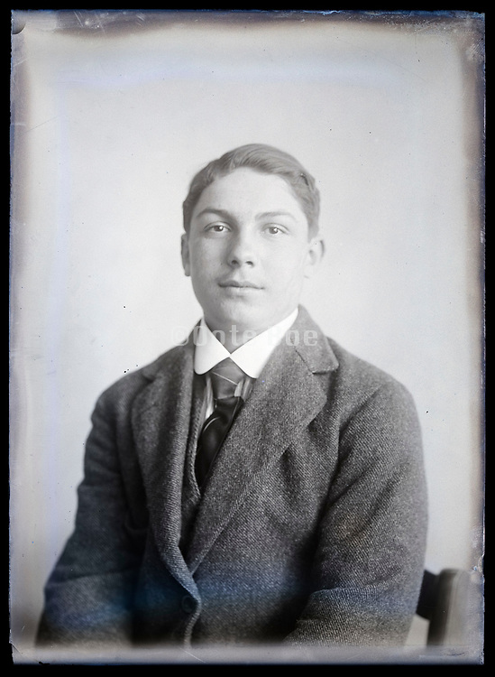 portrait of a young adult man circa 1920s