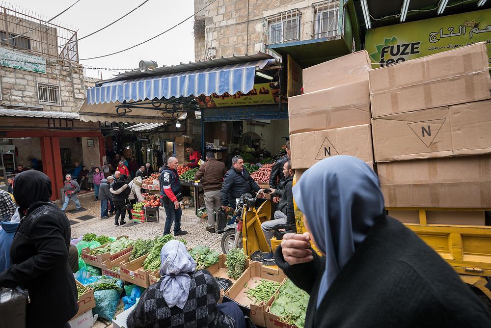 29 February 2020, Jerusalem: Daily life in the Jerusalem Old City.