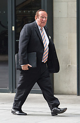 © Licensed to London News Pictures. 18/09/2016. London, UK. Andrew Neil arrives at BBC Broadcasting House to host the Sunday Politics programme. Photo credit : Tom Nicholson/LNP