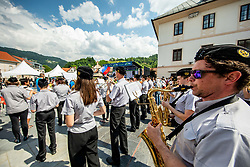 Music band at trophy ceremony in Idrija during 3rd Stage of 26th Tour of Slovenia 2019 cycling race between Zalec and Idrija (169,8 km), on June 21, 2019 in Slovenia. Photo by Vid Ponikvar / Sportida
