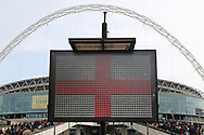 St George's flag during the FIFA World Cup Qualifier group stage match between England and Lithuania at Wembley Stadium, London, England on 26 March 2017. Photo by Matthew Redman.