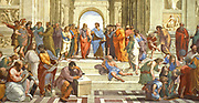 Rafael Sanzio da Urbino  (1483 – 1520), better known simply as Raphael, was an Italian painter and architect of the High Renaissance ' The School of Athens' (detail) (restored) The School of Athens was painted 1510 -1511 to decorate with frescoes the rooms now known as the Stanze di Rafael, in the Apostolic Palace in the Vatican.