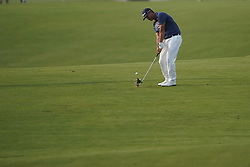 June 16, 2018 - Southampton, NY, USA - Scott Piercy approaches the 16th green during the third round of the 2018 U.S. Open at Shinnecock Hills Country Club in Southampton, N.Y., on Saturday, June 16, 2018. (Credit Image: © Brian Ciancio/TNS via ZUMA Wire)