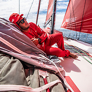 Leg 9, from Newport to Cardiff, day 07 on board MAPFRE, Blair Tuke. 26 May, 2018.