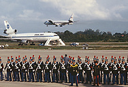 Air Force One and the Pan Am press charter<br />Photograph by Dennos Brack  bb77