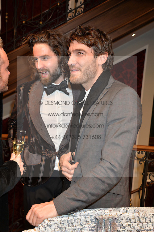 Left to right, JACK GUINNESS and ROBERT KONJIC at the Dolce & Gabbana London Collections: Mens Event 2014 held at Dolce & Gabbana, 53-55 New Bond Street, London on 5th January 2014.