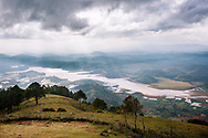 """View of the """"golden valley"""" from Lang Biang mountain, Dalat, Vietnam, Southeast Asia"""