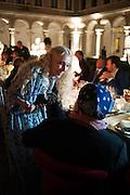 Franca Sozzani ; Bruce Weber.  <br /> Italian Vanity Fair's 10 Anniversary celebration  hosted by Luca Dini. . Fondazione Cini, Isola di San Giorgio. Venezia.  1 September 2013