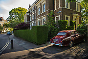 Vintage 1964 Bentley car parked in a driveway in the wealthy area of Cannonbury, Islington, during the coronavirus pandemic on the 24th April 2020 in London, United Kingdom.
