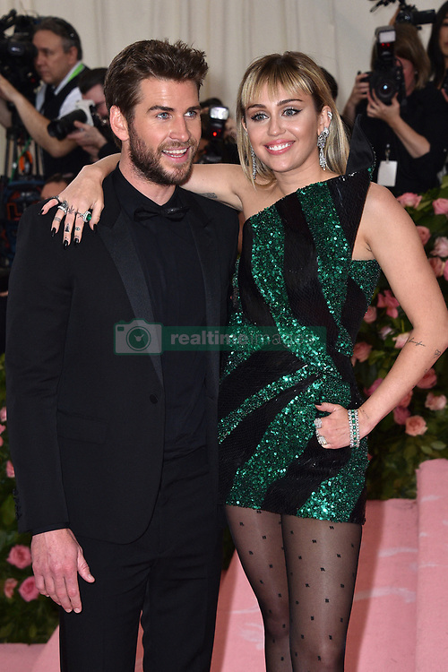 Liam Hemsworth and Miley Cyrus attend The 2019 Met Gala Celebrating Camp: Notes On Fashion at The Metropolitan Museum of Art on May 06, 2019 in New York City. Photo by Lionel Hahn/ABACAPRESS.COM