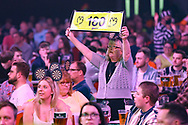 Darts fan during the PDC Unibet Premier League darts at Marshall Arena, Milton Keynes, United Kingdom on 28 May 2021.