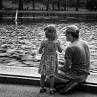 Seen at the Central Park Sailboat Pond, New York City.