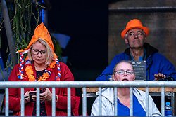 Support, spectators in action during the last day of the beach volleyball event King of the Court at Jaarbeursplein on September 12, 2020 in Utrecht.