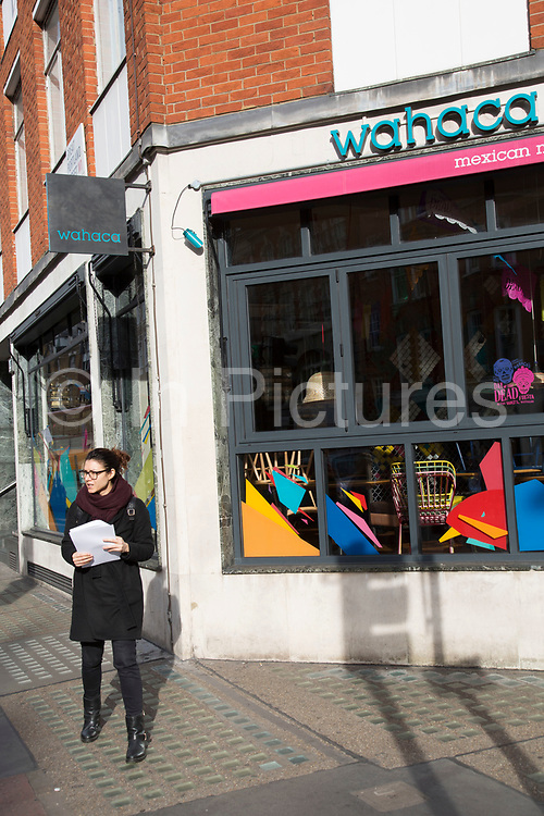 """Following a suspected outbreak of norovirus, several branches of the Wahaca Mexican food chain were closed after over 350 members of the public and staff fell ill of a probable breakout of the winter vomiting bug, including this branch in Great Portland Street in London, United Kingdom. Co-founders Thomasina Miers, and Mark Selby, said: """"We assessed each case and when it became clear they were not isolated incidents, we got in touch with relevant officials at Public Health England and environmental health officers."""" In all nine branches were suspected and closed, and four have reopened as of 3rd November 2016."""