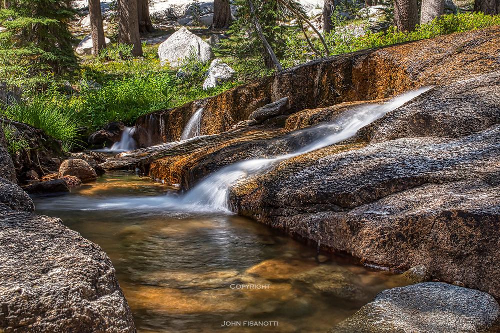 Cascade on Silver Pass Creek, John Muir Wilderness