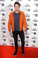 Greg James arriving at the BBC Radio 1 Teen Awards, held at the SSE Wembley Arena, London.<br /> <br /> Picture date: Sunday, 23 October, 2016. Photo credit should: Doug PetersEMPICS Entertainment