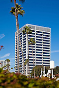 Business Buildings on Newport Center Drive in Fashion Island of Newport Beach California
