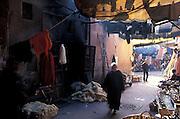 Inside the dying souk, bazar, Marrakesh Morocco