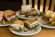 KEVIN BARTRAM/The Daily News.The Tuscan chicken sandwich, foreground, is surrounded by some of the other sandwiches available at Panera Bread at Baybrook Crossing on Thursday, Sept. 8, 2005.