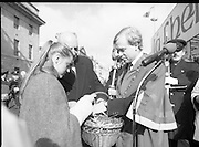 St Patrick's Day Parade.1982.17/03/1982.03.17.1982.17th March 1982..image of The Lord Mayor,Mr Fitzgerald, selecting a sprig for himself.