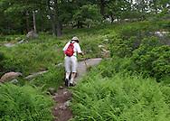 Bear Mountain, New York - A man hikes on the Appalachian Trail at Bear Mountain on June 5, 2010.