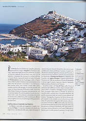 Travel Magazine DOVE, issue 4/2014. Article about Astipalaya, curated by Maria Giovanna Aceti.