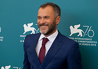 Venice, Italy, 30th August 2019, Massimiliano Gallo at the photocall for the film The Mayor of Rione Sanita (Il Sindaco Del Rione Sanita) at the 76th Venice Film Festival, Sala Grande. Credit: Doreen Kennedy/Alamy Live News