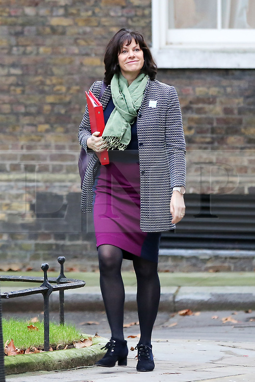 """© Licensed to London News Pictures. 18/12/2018. London, UK. Claire Perry - Minister of State at Department for Business Energy and Industrial Strategy arrives in Downing Street for the weekly Cabinet meeting. The Cabinet will discuss the preparations for a """"No Deal"""" Brexit. Photo credit: Dinendra Haria/LNP"""