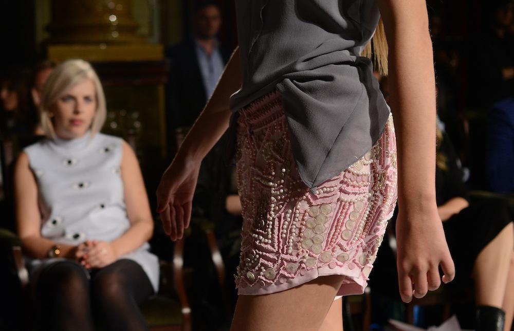 Delna Poonawalla fashion show during London Fashion Week SS 2015. 13/09/2014 London, UK. credit: Anne-Marie Michel