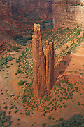 Overhead view of Spider Rock, Canyon De Chelly National Monument