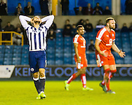 Anguish of Lee Gregory of Millwall during the Sky Bet League 1 match at The Den, London<br /> Picture by Richard Brooks/Focus Images Ltd 07947656233<br /> 21/02/2017