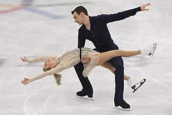 February 8, 2018 - Pyeongchang, South Korea - CHRIS KNIERIM and ALEXA SCIMECA KNIERIM of Colorado Springs compete Friday, February 9, 2018, in the pairs Short Program Team event on opening day of the Figure Skating Team competition at the Winter Olympic Games in at the Gangneung Ice Arena in Pyeongchang, S. Korea. e (Credit Image: © Mark Reis via ZUMA Wire)