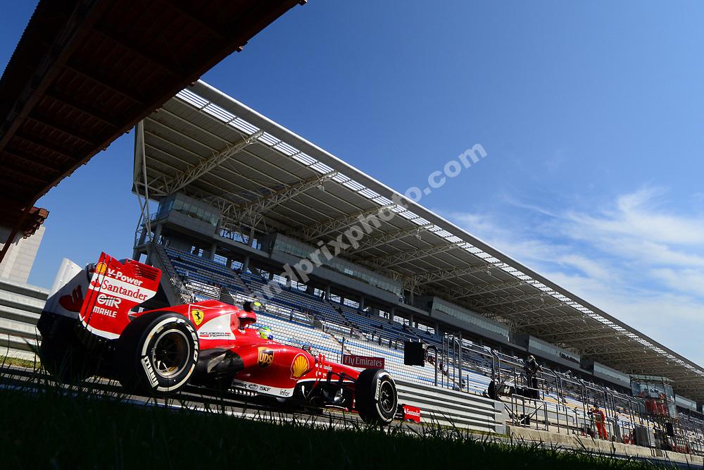 Felipe Massa (Ferrari) during practice for the 2013 Korean Grand Prix in Yeongam. Photo: Grand Prix Photo
