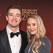 NLD/Amsterdam/20181219 - NOC*NSF Sportgala 2018, Jeffrey Herlings en partner