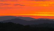 Blue Ridge mountain scene over Charlottesville, Va.  Photo/ Andrew Shurtleff