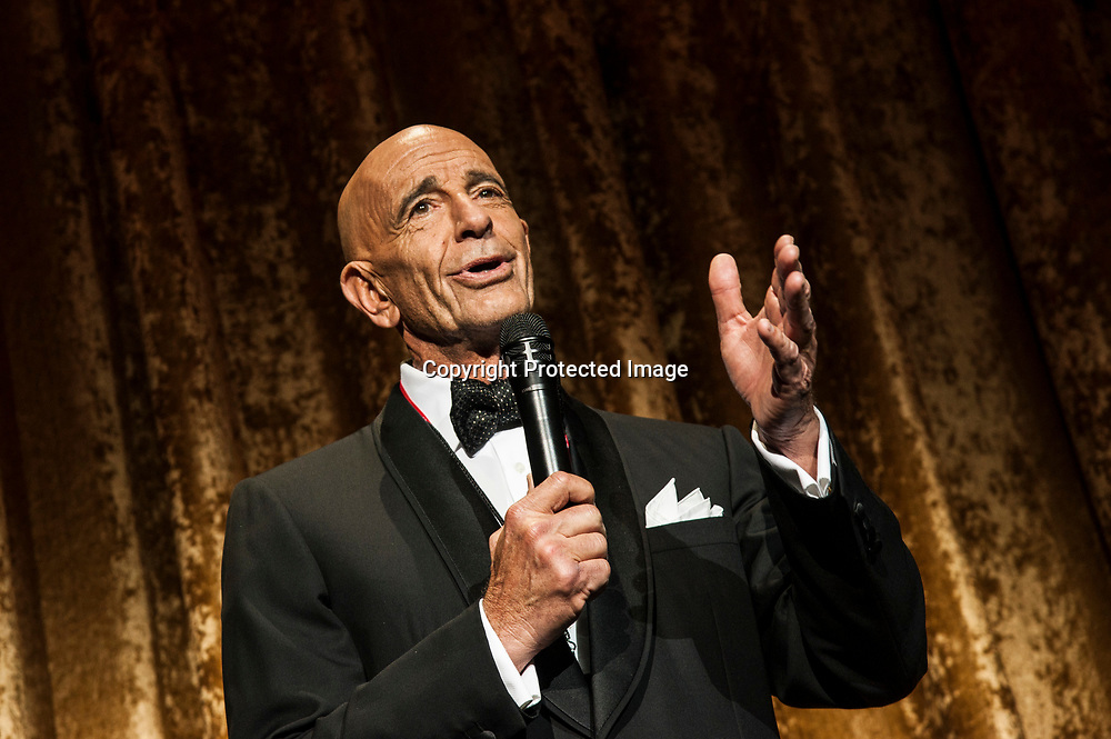 Tom Barrack, chairman of the Presidential Inaugural Committee, speaks during the Chairman's Global Dinner at the Andrew W. Mellon Auditorium in Washington DC on January 17, 2017.