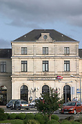 The train station, gare, in Libourne. Bordeaux, France