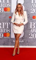 February 21, 2019 - London, London, United Kingdom - Image licensed to i-Images Picture Agency. 20/02/2019. London, United Kingdom. Emma Bunton at the Brit Awards in London. (Credit Image: © i-Images via ZUMA Press)
