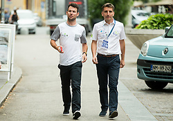 Mark Cavendish (RSA, Team Dimension Data) and Andrej Filip prior to the press conference of 24th Tour of Slovenia 2017 / Tour de Slovenie cycling race on June 14, 2017 in City museum, Ljubljana, Slovenia. Photo by Vid Ponikvar / Sportida