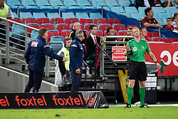 December 15, 2018 - Sydney, NSW, U.S. - SYDNEY, NSW - DECEMBER 15: Western Sydney Wanderers coach Markus Babbel argues with the official at the Hyundai A-League Round 8 soccer match between Western Sydney Wanderers FC and Sydney FC at ANZ Stadium in NSW, Australia on December 15, 2018. (Photo by Speed Media/Icon Sportswire) (Credit Image: © Speed Media/Icon SMI via ZUMA Press)