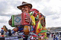 Man with accordion on a float