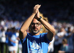 Huddersfield Town manager David Wagner applauds the fans at the final whistle - Mandatory by-line: Jack Phillips/JMP - 13/05/2018 - FOOTBALL - The John Smith's Stadium - Huddersfield, England - Huddersfield Town v Arsenal - English Premier League