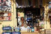 A local shopkeeper in Jaisalmer, Rajasthan, India