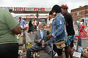 6/24/21  Civil Rights maverick, author  and Mississippi's Native son, James Meredith visits George Floyd Memorial Square the day before ex police officer Eric Chauvin is sentenced for the murder of George Floyd.  Meredith is in Minnesota for More Than A Moment, a series of roundtable discussions with students, educators, lawyers, and community leaders and faith leaders to discuss ways to end racism and how to build strong community leaders. Meredith emphasized the importance of speaking the truth and working together to make change for the better in our communities. Photo © Suzi Altman 6/24/21 James Meredith poses outside Cup Foods in front of the George Floyd memorial mural, Meredith says he was the George Floyd of his time. The site where Floyd was brutally killed by ex police officer Eric Chauvin who will be sentenced for the murder Friday June 25th. Civil rights icon James Meredith visits George Floyd Memorial Square the day before ex police officer Derek Chauvin is sentenced for the murder of George Floyd. Meredith is in Minnesota for More Than A Moment, a series of roundtable discussions with students, educators, lawyers, and community leaders and faith leaders to discuss ways to end racism and how to build strong community leaders. Meredith emphasized the importance of speaking the truth and working together to make change for the better in our communities. Photo © Suzi Altman #jamesmeredith #georgefloyd #minneapolis #minnesota #justice #peace #mural #memorial #education #suzialtman #shotoniphone #derekchauvin #murder #blacklivesmatter photo copyright © @suzialtman  #derekchauvin