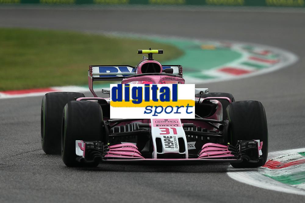 Esteban Ocon Racing Point Force India<br /> Monza 31-08-2018 GP Italia <br /> Formula 1 Championship 2018 <br /> Foto Federico Basile / Insidefoto