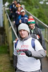 John starts the walk..The John Hartson Foudation walk up Ben Nevis..Pic ©2010 Michael Schofield. All Rights Reserved.