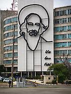 Image of Fidel Castro, Ministry of Communications, Havana, Cuba
