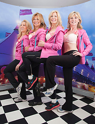 """© Licensed to London News Pictures. 12/05/2012. London, England. The Janet Reger Team with Aliza Reger, Nina Carter, Jilly Johnson and Anthea Turner. The MoonWalk London 2012, Celebrating 15 years of Moon Walking for the breast cancer charity """"Walk the Walk"""". Photo credit: Bettina Strenske/LNP"""